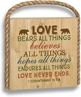 product image for Imagine Design Love Bears All Things Great Outdoors Plaque