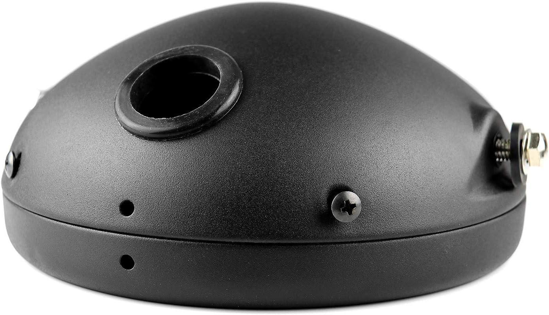 Iycorish Base de Phare de Moto 7 Pouces R/éTro Prince Base de Phare Modifi/éE pour Moto Base de Coque de Phare LED