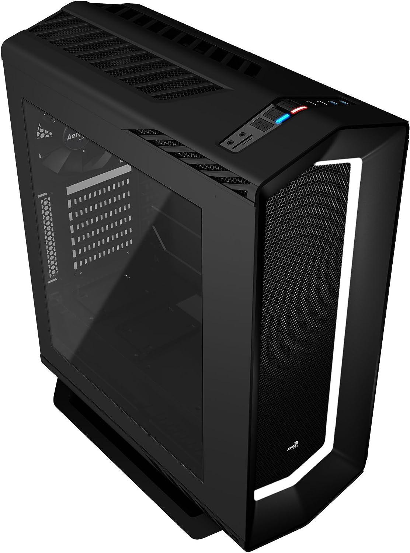 Aerocool P7 C1, caja PC ATX,semitorre, LED 8 colores, ventilador trasero, negro