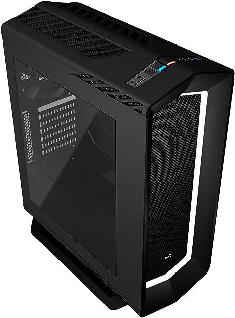Aerocool P7 C1, caja PC ATX,semitorre, LED 8 colores, ventilador trasero, negro: Aerocool: Amazon.es: Informática