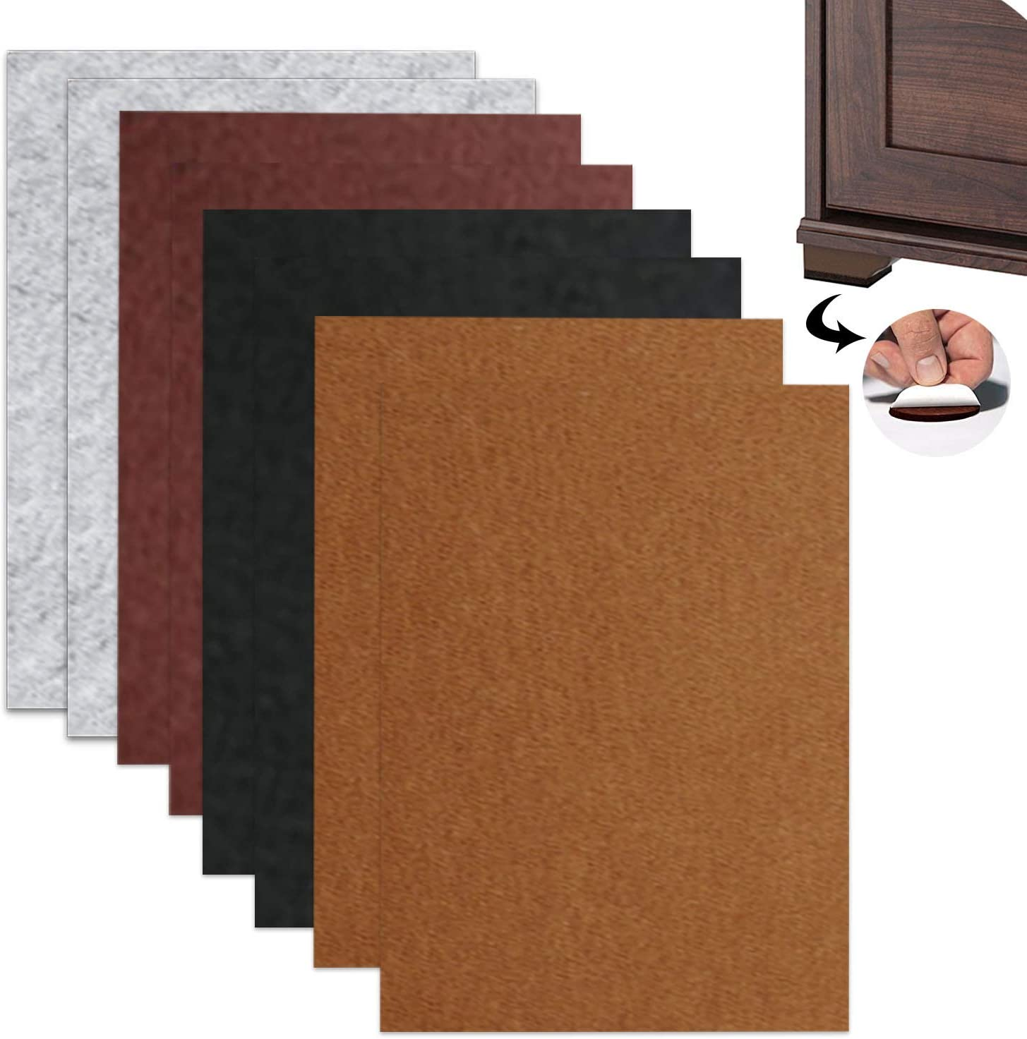Furniture Felt Pad Self-Adhesive 11.88.62In 8Pcs, Furniture Non-Slip Self-Adhesive Mat, Furniture Floor Protector, Anti-Scratch Floor Protection Mat for Furniture Legs ,Larger Area and More Freer Use
