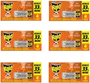 Raid Concentrated Pest Control Deep Reach Fogger 1.5 Ounces 4 count (6 pack)