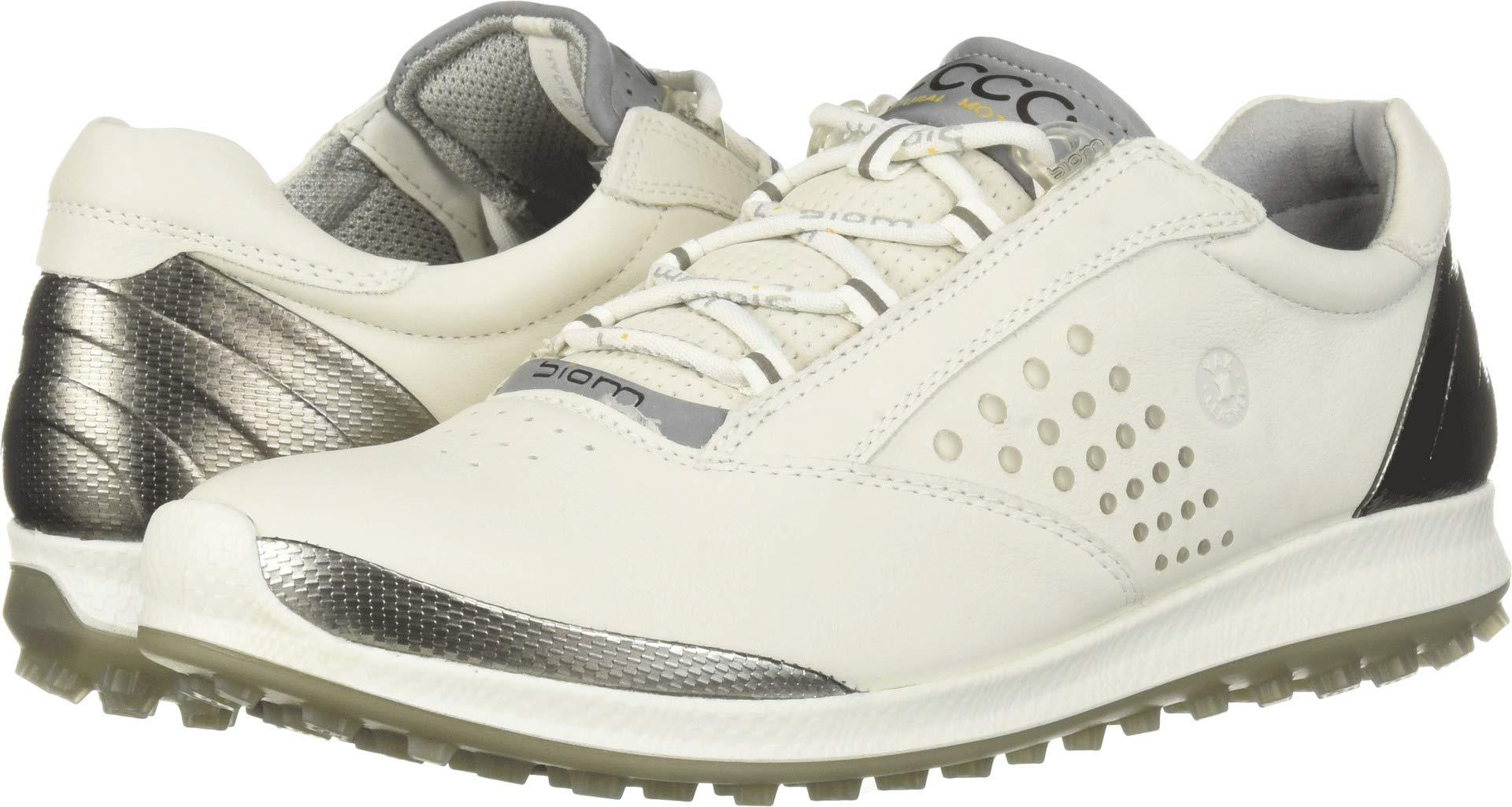 ECCO Women's Biom Hybrid 2 Golf Shoe, White Yak Leather, 7 M US by ECCO
