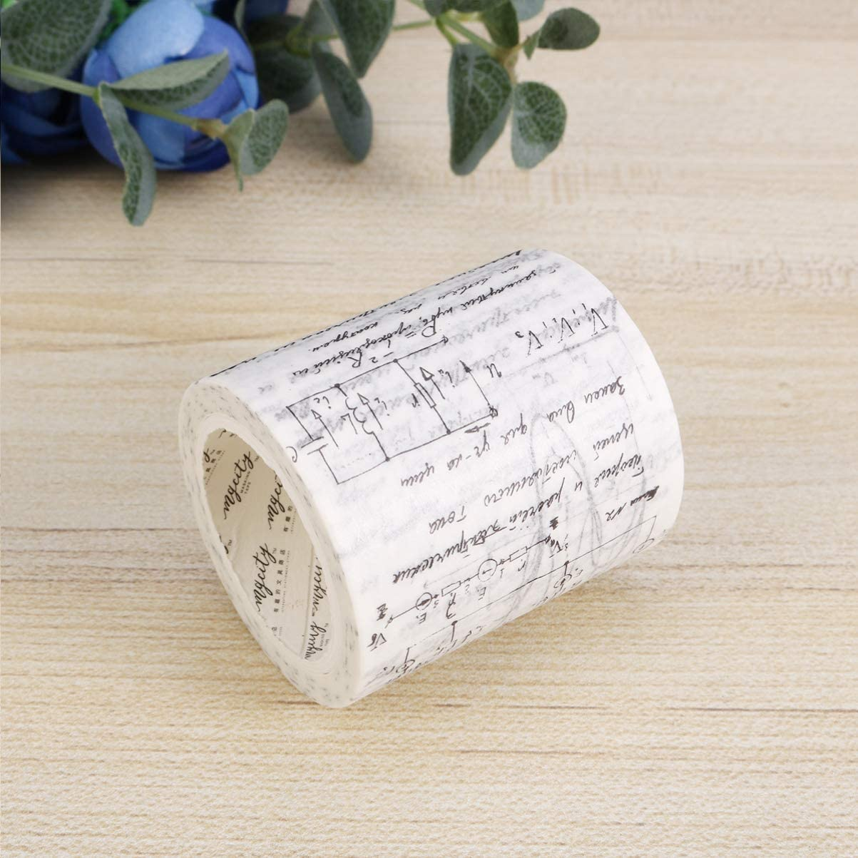 SUPVOX Vintage Washi Tape Wide Sticky Paper Tape Decorative Washi Masking Tape for Planner Notebook Diary Bullet Journal Scrapbooking Newspaper