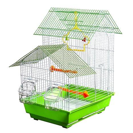 GH birdcage Jaula de Loro con Juguete para pájaros, Jaula de cría ...