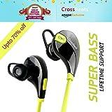 Crossbeatstm Aura Bluetooth 4.1 Lightweight Wireless Sports Headphones - Green/Black