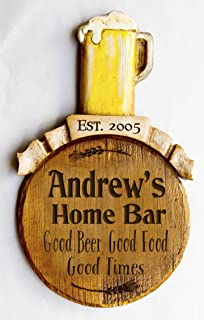 product image for Piazza Pisano Personalized Beer Pub Bar Sign