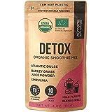 Detox Organic Smoothie Powder with Healthy Spirulina, Atlantic Dulse and Barley Grass Juice Powder, Premium Quality superfood