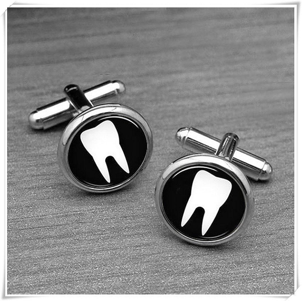 chen jian xin dentiste Boutons de manchette, médecin dentiste dent de boutons de manchette, boutons de manchette beautiful dandelion JX36