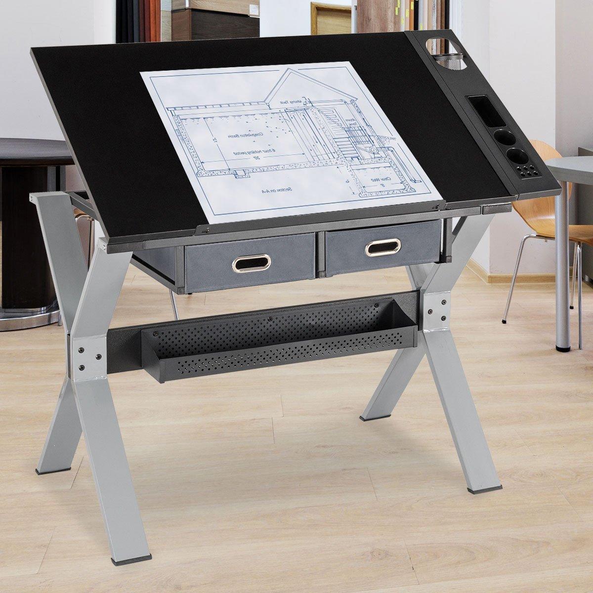 Magnificent Tangkula Drafting Table Art Craft Drawing Desk Art Hobby Creativecarmelina Interior Chair Design Creativecarmelinacom