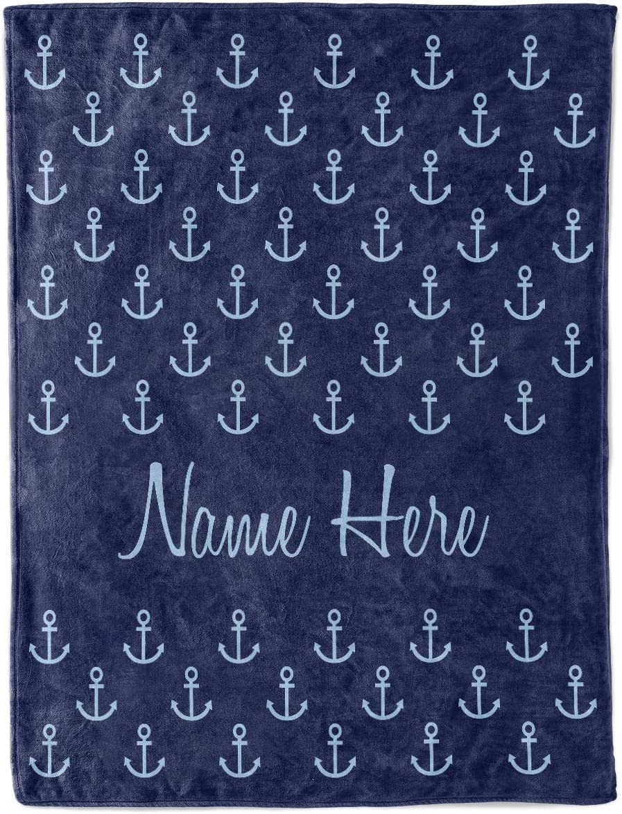 PERSONALISED NEW BORN BABY FLEECE BLANKET BOYS BLUE//ROYAL//NAVY GIFT WRAPPED FREE