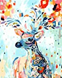 New arrival DIY Oil Painting by Numbers Kit Theme PBN Kit for Adults Girls Kids White Christmas Decor Decorations Gifts - Color Deer (Without Frame)