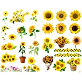 Sticko Vellum Stickers Sunflowers SPVM-76 6-Pack