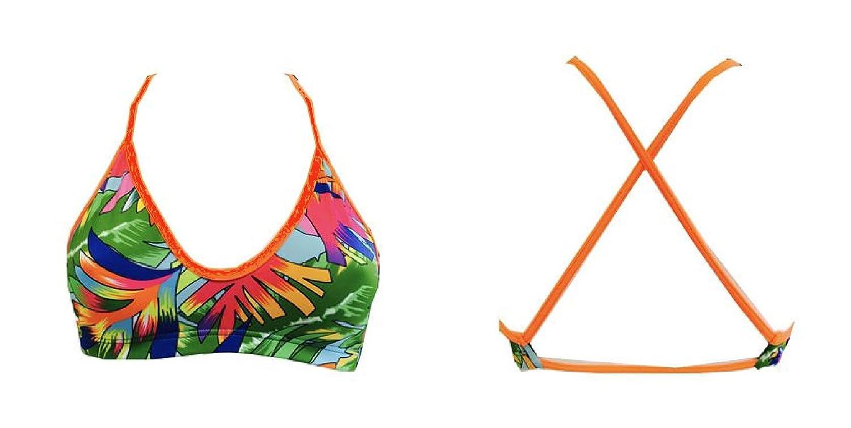 Turbo Bikini Tropical (Mare) Mix & Match swimkini - Top + Slip por separado bestellbar, grün orange: Amazon.es: Deportes y aire libre