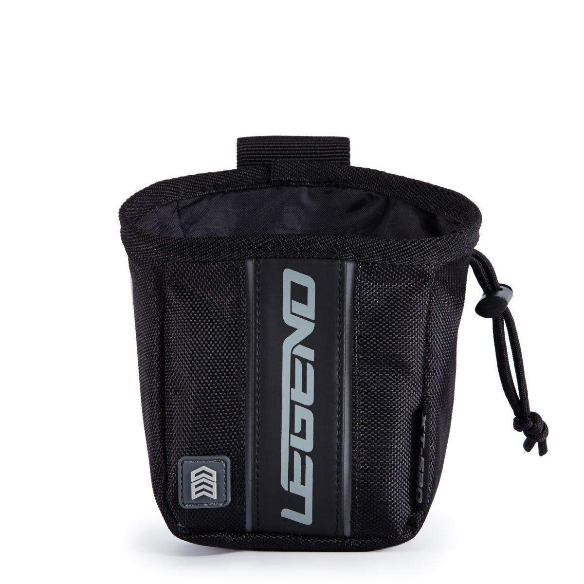 Legend Archery Release Aids Pouch Bag with Belt Loop Draw String and Zipped Pocket XT520 (Black) by Legend