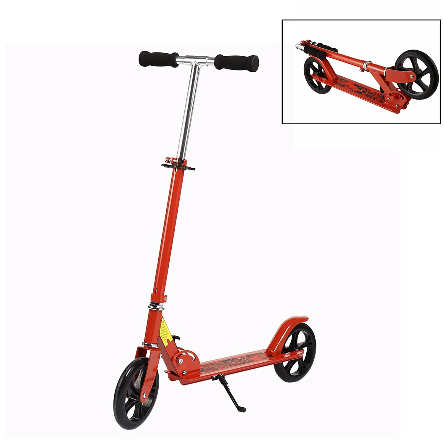 Leoneva Foldable Lightweight Adult Kick Scooter with Adjustable Height, Load Capacity 198.2lbs