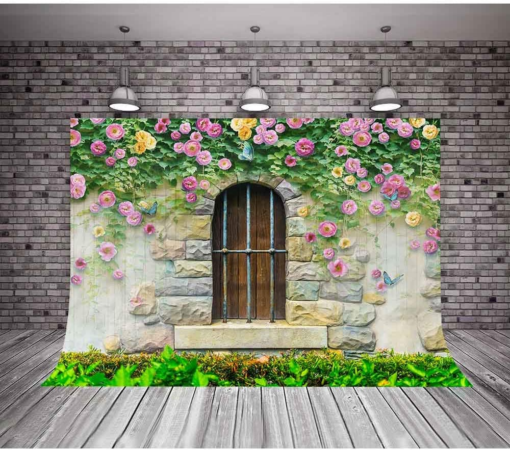 MTMETY 10x7ft Flower Wall Wedding Photo Booth Props YouTube Photo Video Studio Props DSME088