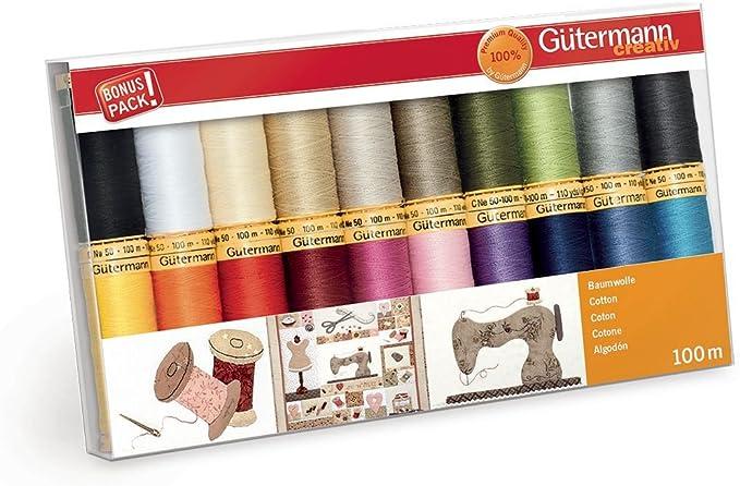 Gutermann Lot de filetage Multicolore