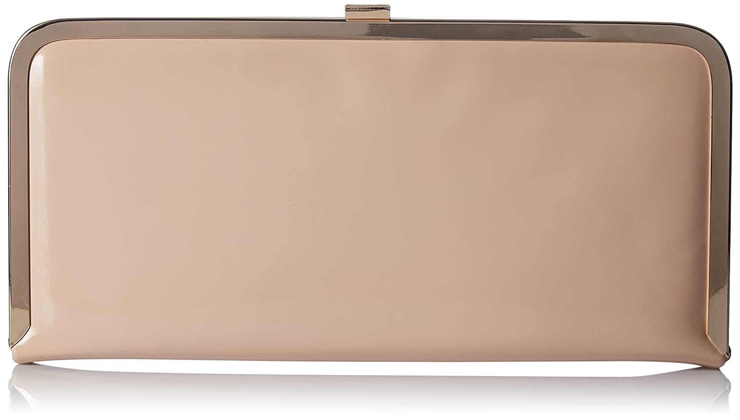 Accessorize Rose Patent Hardcase Clutch Bag - womens