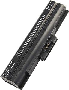Laptop Battery fit Sony Vaio VGP-BPS13 VGP-BPS13A VGP-BPS13A/B VGP-BPS13B/S VGP-BPL13 VGP-BPS21 VGP-BPS21A VGP-BPS21B PCG-81214L PCG-81114L - [Black 6 Cells 11.1V 5200mAh] -Futurebatt