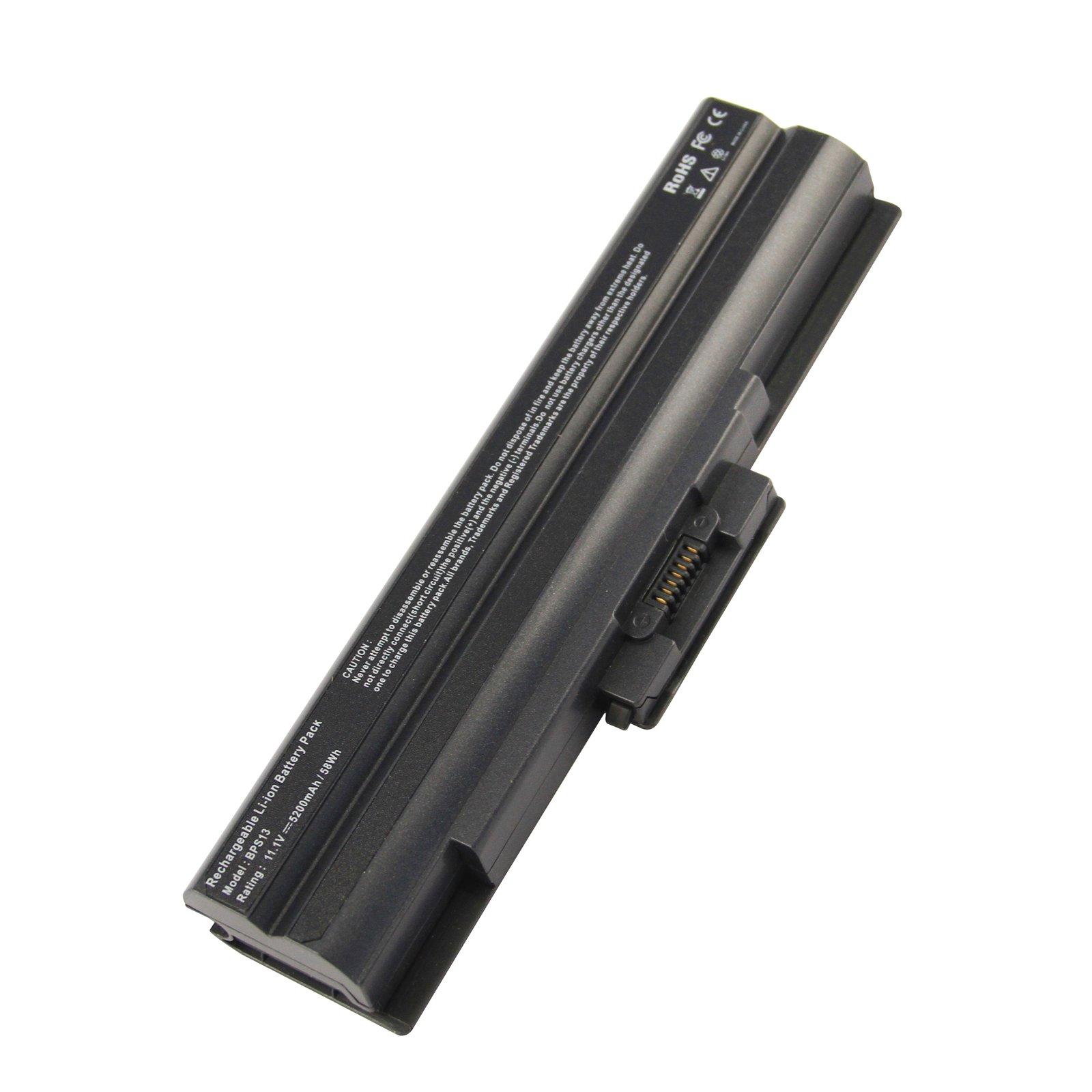 Bateria Bps13 5200mah Para Sony Vaio Vgp-bps13 Vgp-bps13a Vgp-bps13a/b Vgp-bps13a/q Vgp-bps13a/r Vgp-bps13/b Vgp-bps13b/