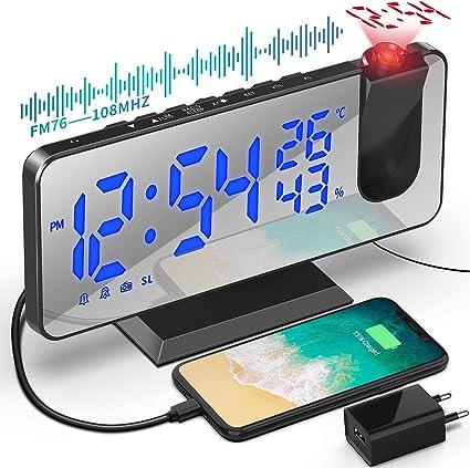 Despertador de Proyección 7.5 Pulgadas Digital 180&