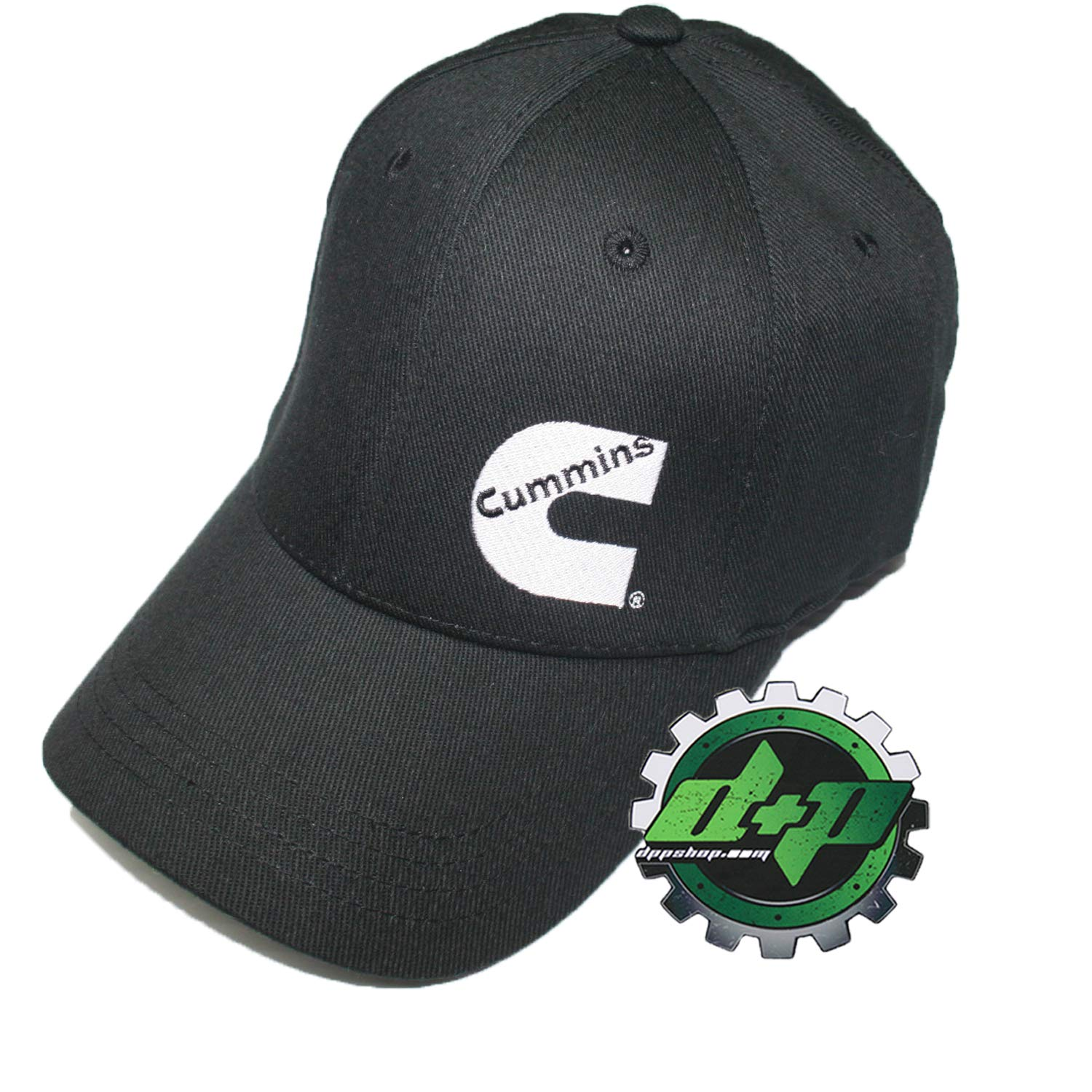 6115160f63a Amazon.com  Diesel Power Plus Cummins Flex Fitted Black Ball Cap fit Hat  Dodge Stretch  Sports   Outdoors