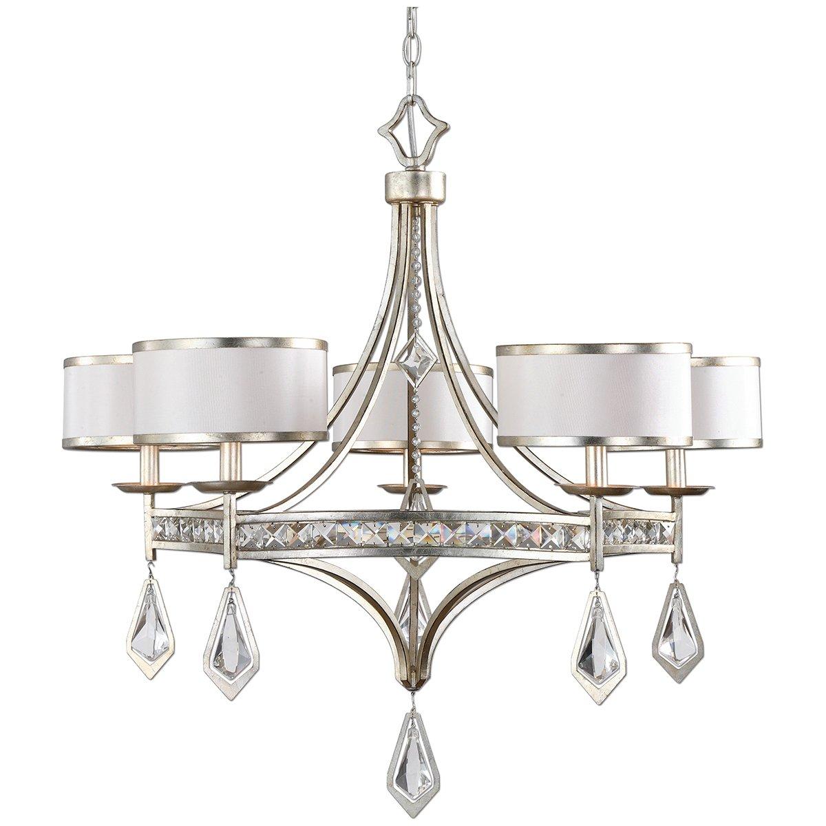 amazoncom uttermost 21268 tamworth 5 light chandelier silverchampagne home kitchen - Uttermost Lights