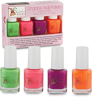 product image for Karma Kids Nail Polish Box Set No. 2 Natural Safe Nail Polish for Little Girls - Non-Toxic, Vegan, and Cruelty Free – Quick Dry, Kids Friendly