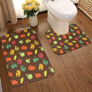 Python Mix - Juego de alfombras de baño con diseño de ...