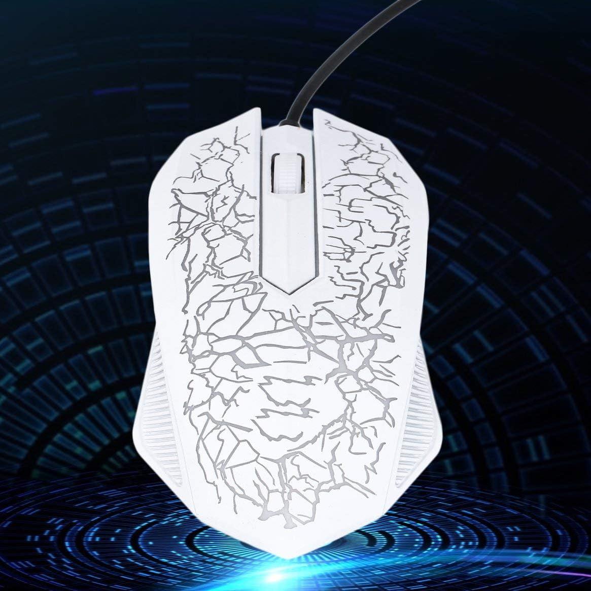 Kongqiabona-UK 3200DPI LED Optique 3 Boutons 3D USB Filaire Gaming Game Mouse Pro Gamer Souris Dordinateur pour PC R/églable USB Filaire Gaming Mouse