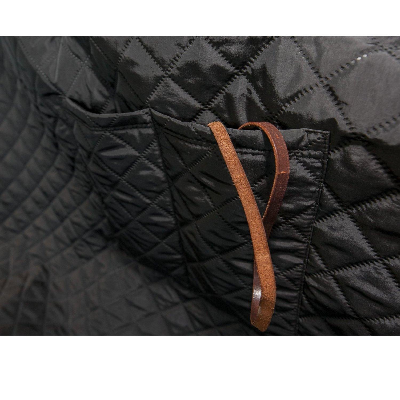 Coperta Protettiva per Cani Diverse Misure e Colori Hobbydog 220 ZBOCZA1 140 x 220 cm con Protezione Laterale Nero XL