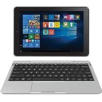 "RCA Cambio 10.1"" 2 in 1 32GB Tablet with Windows 10, Intel Atom Z8350 2GB RAM, IPS 1280 x 800 Includes Keyboard - (Silver) (Renewed)"