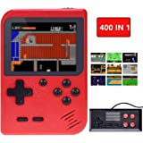 TAPDRA Handheld Game Console, Retro Game Console with 400 Classic Games 3.0 inch Screen Portable Supporting 2 Player, Good Gi