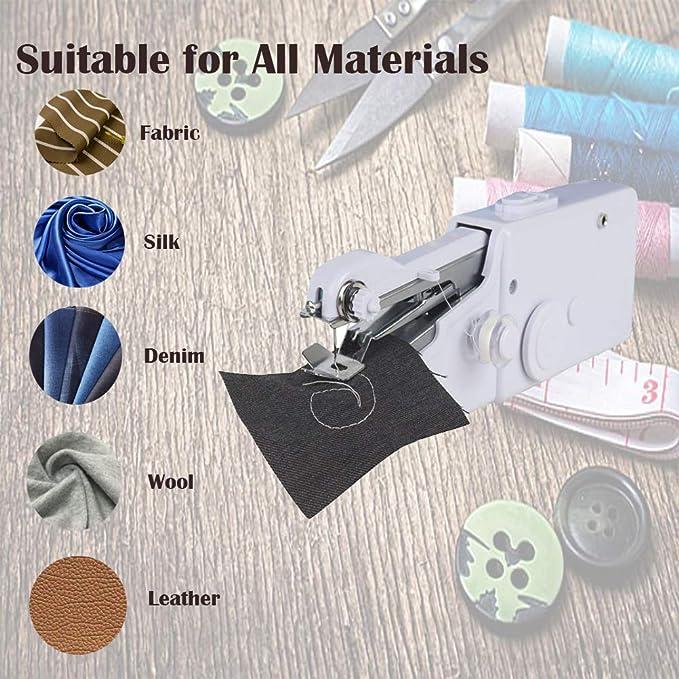 Odziezet Mini máquina de coser portátil eléctrica, de tela para ...