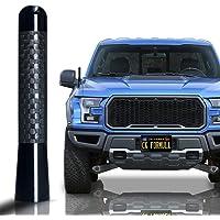 "CK FORMULA 3.1"" Black Truck Antenna - Carbon Fiber Screw Type Automotive Antenna Replacement, AM/FM Radio Compatibility…"