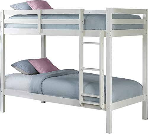 Hillsdale Kids and Teens Caspian Twin Bunk Bed, Twin Twin, White