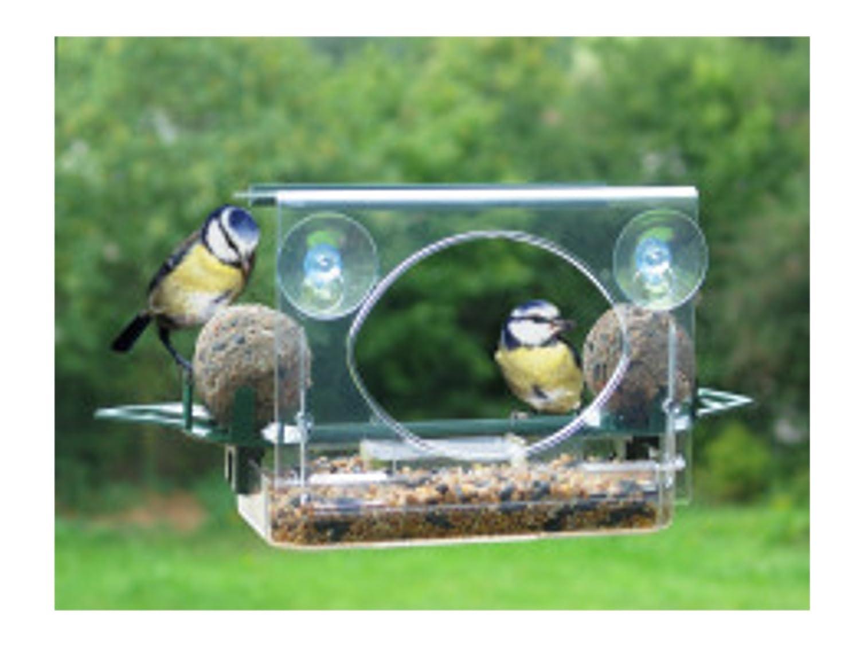 GLASS/WINDOW SUCTION BIRD FEEDER- ROOF/FAT BALL HOLDERS Meripac