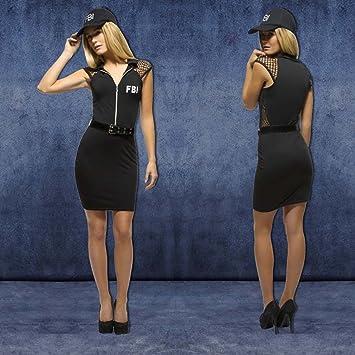 NET TOYS Disfraz FBI Mujer Traje Agente señora XS 32/34 Ropa ...