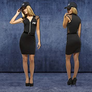 NET TOYS Disfraz FBI Mujer Traje Agente señora S 36/38 Ropa ...