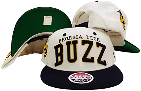 check out af3c1 87248 Image Unavailable. Image not available for. Color  ZHATS Georgia Tech  Yellow Jackets White Navy Plastic Snapback Adjustable Hat Cap