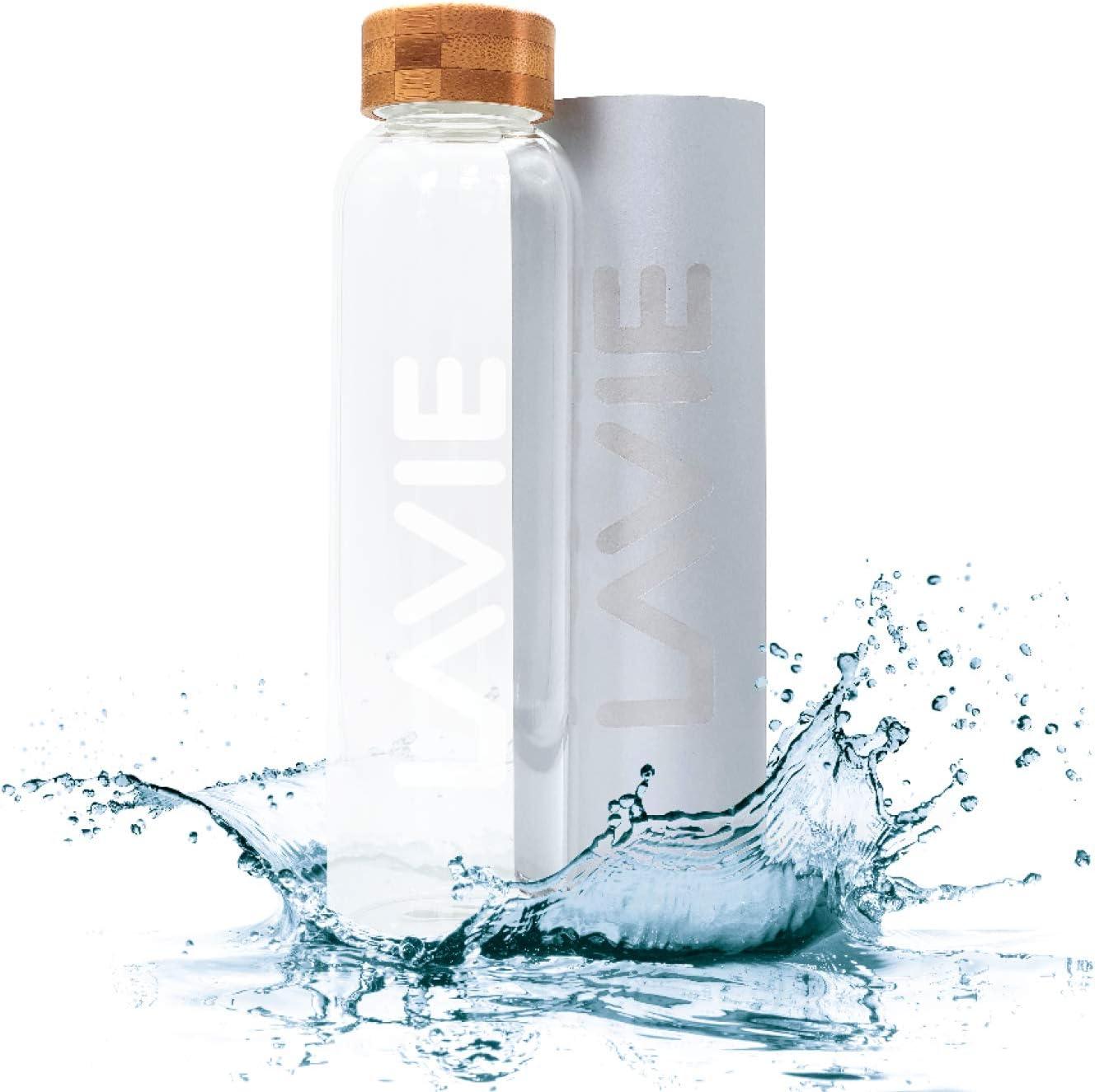 LaVie 2GO - Purificador de agua portátil de aluminio (0,5 L) con caja de aluminio, purifica el agua en 15 minutos con luz UVA, sin filtros, sin mantenimiento, solo agua dulce pura: