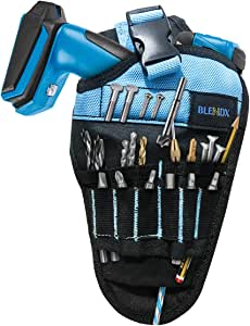 Magnetic Drill Holster – BLENDX Drill Attachment with Stong Magnets for Holding Screws, Nails, Drilling Bits, The Best Christmas Day Gift for Men