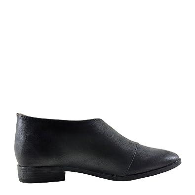 7160fd7e9d65 Qupid Tuxedo 68 Women s Asymmetrical Closed Toe Ankle Bootie (5.5