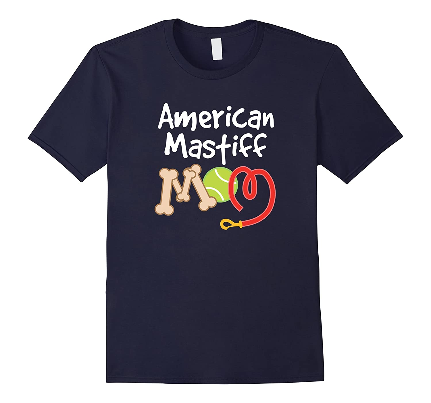 American Mastiff Dog Mom T-shirt Mothers Day Pet-TH