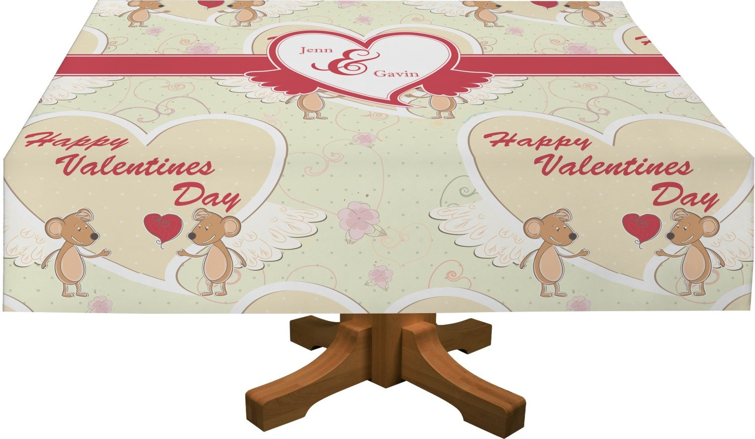 Mouse Love Rectangular Tablecloth - 88''x156'' (Personalized) by RNK Shops (Image #1)