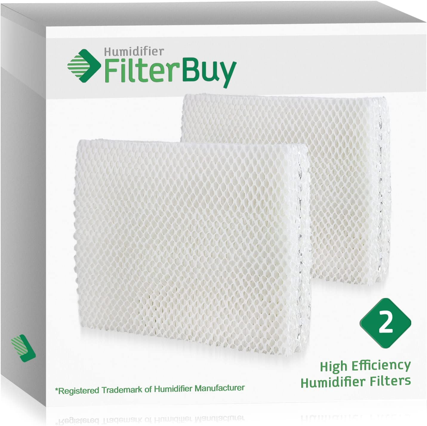 Vornado MD1 0001, MD1 0002, MD1 1002 Humidifier Wick Filter. Designed by FilterBuy to fit all Vornado Evaporative Humidifiers. Pack of 2 Filters.