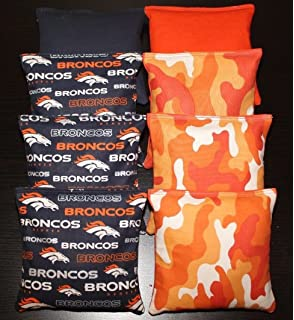 All Weather Cornhole Bean Bags DALLAS COWBOYS Fabric 8 ACA Regulation Toss Bags