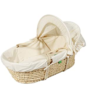best website 4f9f7 cf497 The Little Green Sheep Organic Moses Basket with Hood (Maize ...