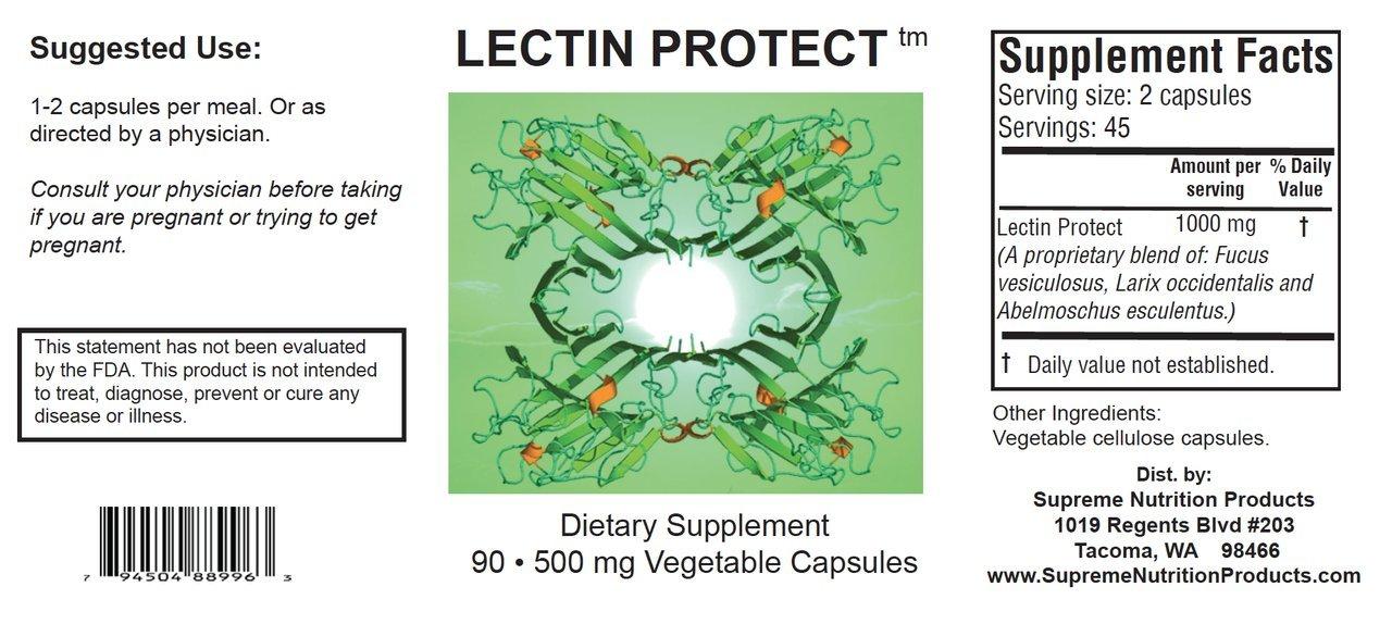 Supreme Nutrition Lectin Protect, 90 Lectin Blocker Caps by Supreme